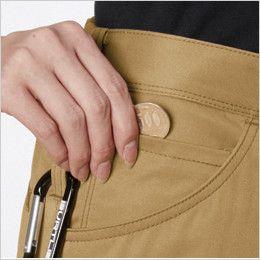 バートル 1719 [春夏用]T/Cライトチノレディースカーゴパンツ(女性用) コインポケット付き