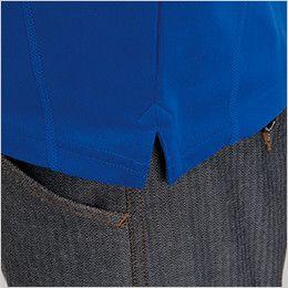 バートル 415 ドライメッシュ半袖ジップシャツ[左袖ポケット付](男女兼用) スリット