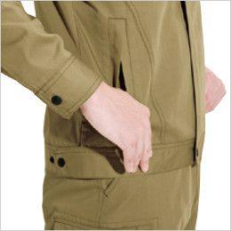 バートル 6071 [秋冬用]制電T/Cソフトツイルジャケット(JIS T8118適合)(男女兼用)  逆玉ポケット