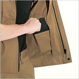 バートル 6082 [春夏用]制電T/Cライトチノ半袖ジャケット(JIS T8118適合)(男女兼用) 内ポケット