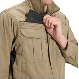 バートル 6091 ソフトツイルジャケット(男女兼用)  レベルブック収納ポケット