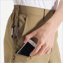 バートル 7097 [春夏用]ドビークロスユニセックスパンツ(JIS T8118適合)(男女兼用) Phone収納ポケット