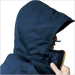 バートル 7111 パイピング防寒コート(男女兼用) 大型フードスピンドル付(マジックテープ+ファスナー脱着)