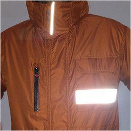 バートル 7211 サーモトロン防寒コート(大型フード付)(男女兼用) リフレクターバイビング