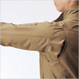 バートル 9081 [春夏用]ストレッチエアリークロス長袖ジャケット(男女兼用) 背アームノーフォークメッシュ