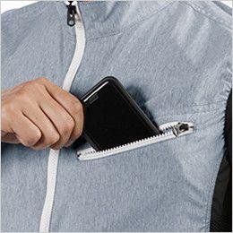 AC1024 バートル エアークラフト[空調服]迷彩ベスト(男女兼用) ポリ100% Phone収納ポケット