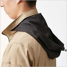 AC1111SET-K バートル エアークラフト[空調服]長袖ジャケット(男女兼用) ポリ100% 収納式フード(スピンドル付き)(全色ブラック)