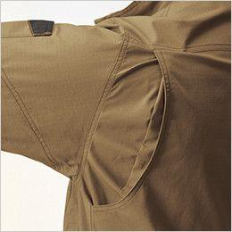 バートル AC1131 エアークラフト[空調服]長袖ブルゾン(男女兼用) 綿100% 背アームノーフォーク