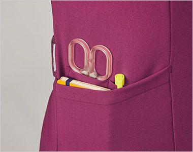 MK-0002 ミッシェルクラン(MICHEL KLEIN) ファスナースクラブ(女性用) はさみ、ペン差し、メモ帳などが分類して収納できるマルチポケット