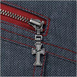 自重堂JAWIN 56404 [春夏用]長袖シャツ(新庄モデル) ポケットファスナーロゴ入りスライダー