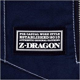 自重堂Z-DRAGON 74110 [春夏用]空調服 フルハーネス対応 綿100% 長袖ブルゾン  Z-DRAGONオリジナル革ラベル(人工皮革)