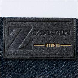 自重堂 75602 [春夏用]Z-DRAGON ストレッチデニムノータックカーゴパンツ 革ラベル(人工皮革)