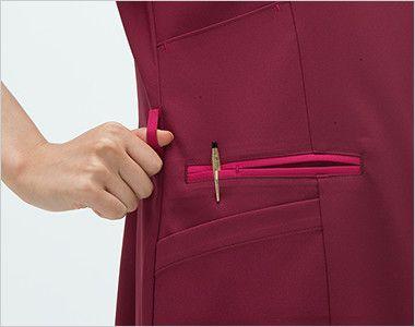 ML1142 ナガイレーベン(nagaileben) エムエル ハイブリッドメディウェア チュニック(女性用) ループ・収納が多い多機能ポケット