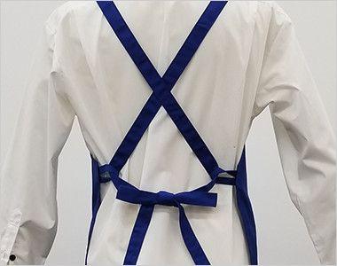 10032 桑和 胸当てエプロン(ペン差し付き) X型(男女兼用) 背中はX型で結べます