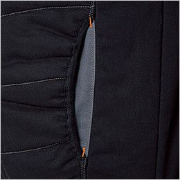 5106 桑和 G・GROUND 防寒ベスト 襟ボア フリース 向こう布配色ポケット