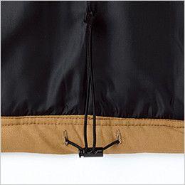 5106 桑和 G・GROUND 防寒ベスト 襟ボア フリース 裾絞り