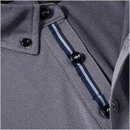 7045-51 G・GROUND 半袖ポロシャツ(胸ポケット付き) 前立てカラーテープ