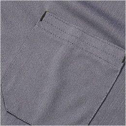 7045-51 G・GROUND 半袖ポロシャツ(胸ポケット付き) ポケット付き