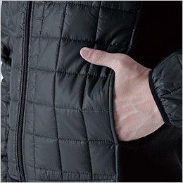 42256 TS DESIGN マイクロリップショートスリーブジャケット(男女兼用) ポケット