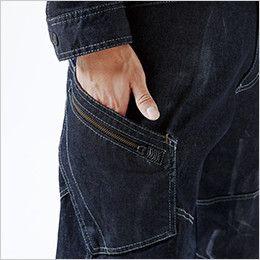 51141 TS DESIGN 綿100%ソフトチノクロス&ストレッチデニムカーゴパンツ(女性用) カーゴポケット仕様
