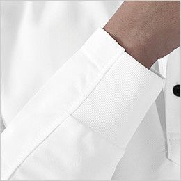 81305 TS DESIGN ES ワークニットロングポロシャツ(男女兼用) リブ仕様
