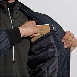 846326 TS DESIGN かっこいいドカジャン防寒 ウインターフライトジャケット(男女兼用) 内ポケット