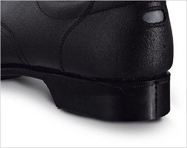 ジーベック 85025 安全短靴 スチール先芯 耐久性が高く、熱に強いラバー素材を使用し、鉄工場や溶接等のハードな現場にも対応。