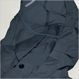 KU91410SET 空調服セット 綿100% 長袖ブルゾン(フード付き) スベリ止め