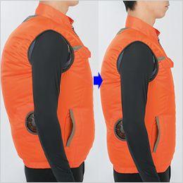 ジーベック XE98009 [春夏用]空調服 半袖ブルゾン ポリ100% 身頃の膨らみを抑えたシャープなシルエット