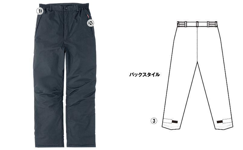 AZ8472 アイトス タルテックス 業務用 防風防寒ズボン(パンツ) 商品詳細・こだわりPOINT