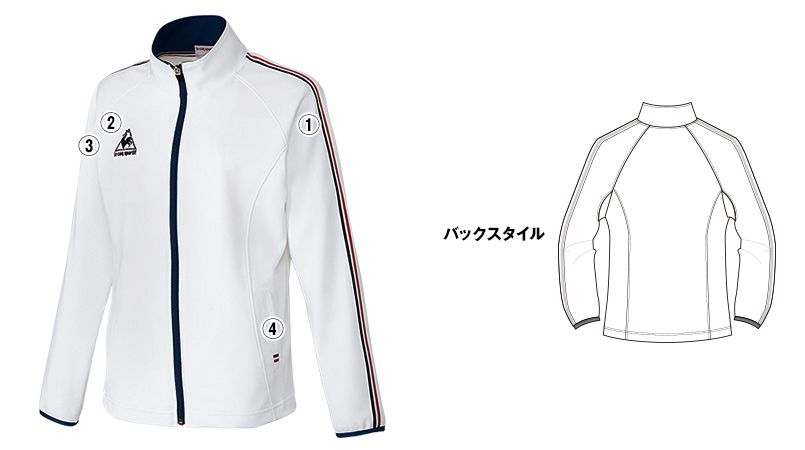 UZL1012 ルコック ジャージ ジャケット(女性用) 商品詳細・こだわりPOINT