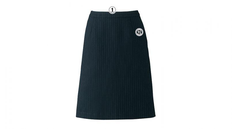 AS2284 BONMAX/リアン Aラインスカート ストライプ 商品詳細・こだわりPOINT