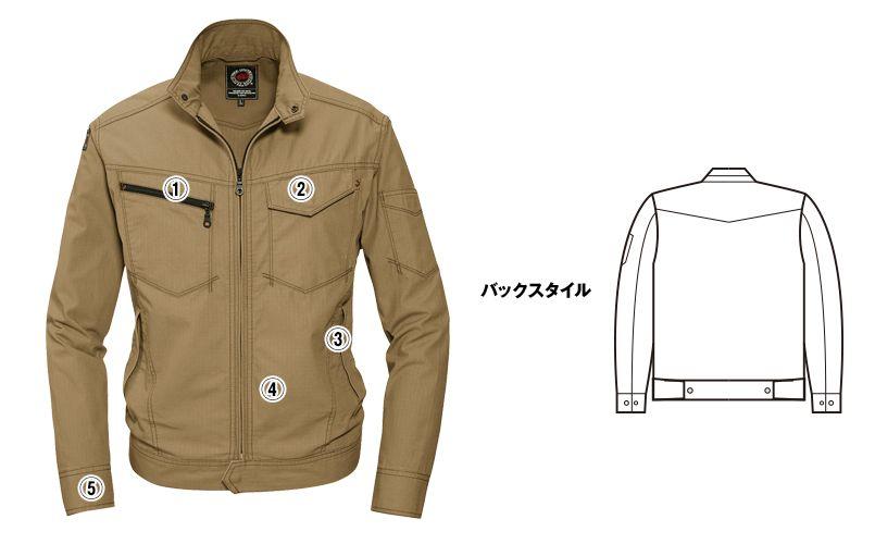 バートル 5101 [春夏用]リップクロスジャケット(綿100%)(男女兼用) 商品詳細・こだわりPOINT