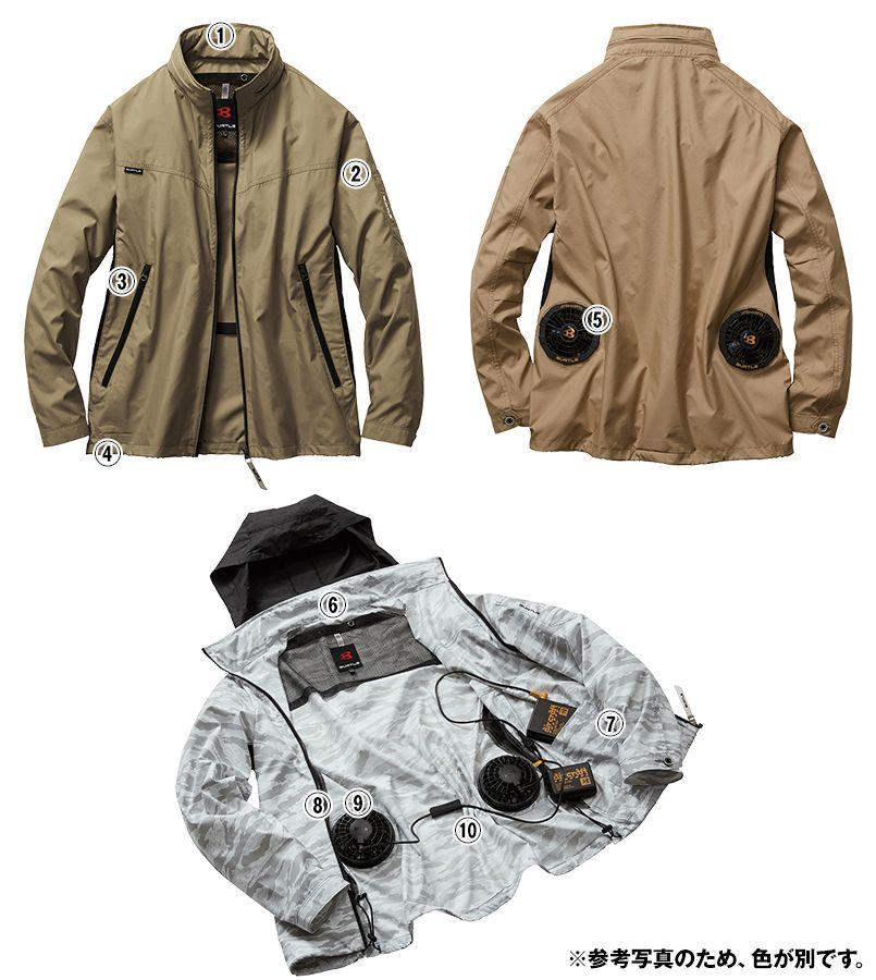 AC1111SET-K バートル エアークラフト[空調服]長袖ジャケット(男女兼用) ポリ100% 商品詳細・こだわりPOINT