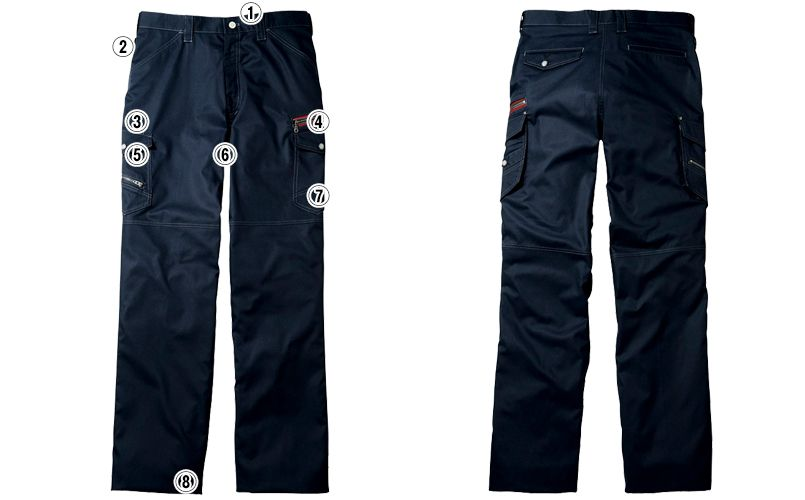 自重堂 56002 [春夏用]JAWIN ノータックカーゴパンツ(新庄モデル) 裾上げNG 商品詳細・こだわりPOINT