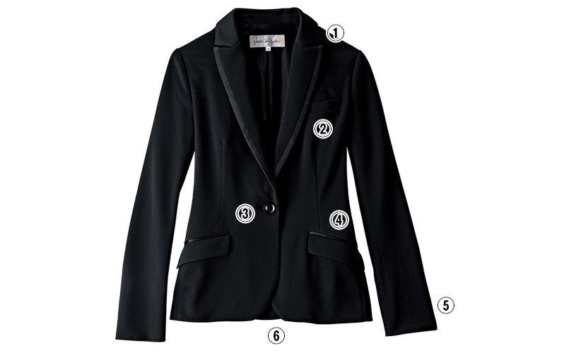 en joie(アンジョア) 81510 [通年]高級感×動きやすさを両立させたニットジャケット 無地 商品詳細・こだわりPOINT