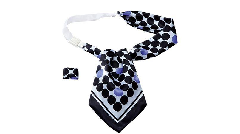EAZ448 enjoy モダンなドット柄で大人っぽい印象のアスコットスカーフ 商品詳細・こだわりPOINT