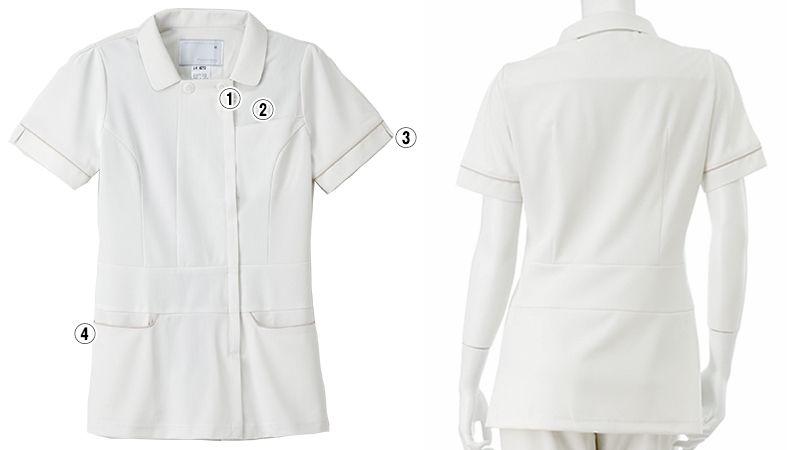 LH6212 ナガイレーベン(nagaileben) ビーズベリー ナースジャケット(女性用) 商品詳細・こだわりPOINT