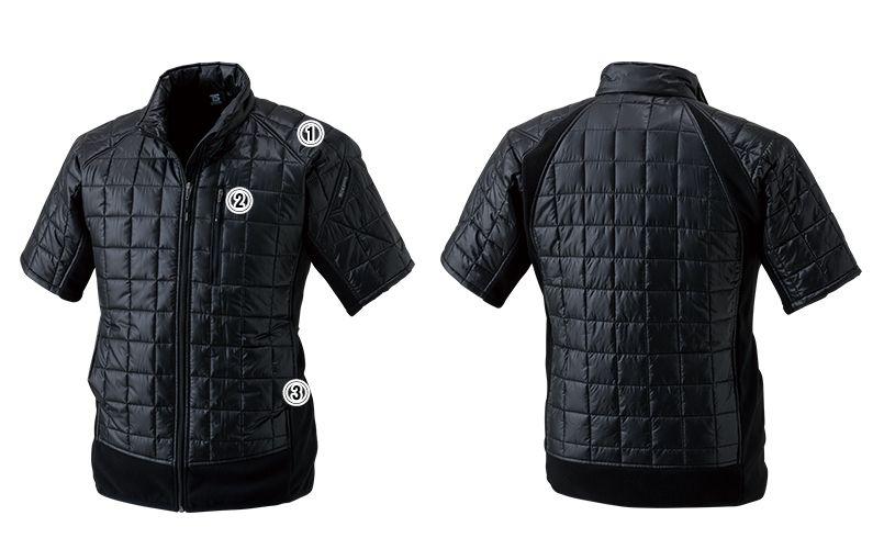 42256 TS DESIGN マイクロリップショートスリーブジャケット(男女兼用) 商品詳細・こだわりPOINT