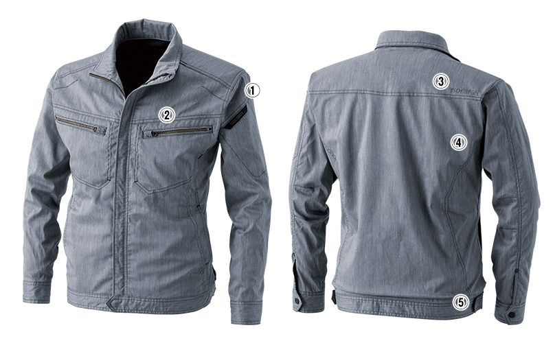 5306 TS DESIGN [春夏用]ライトテックロングスリーブジャケット (男女兼用) 商品詳細・こだわりPOINT