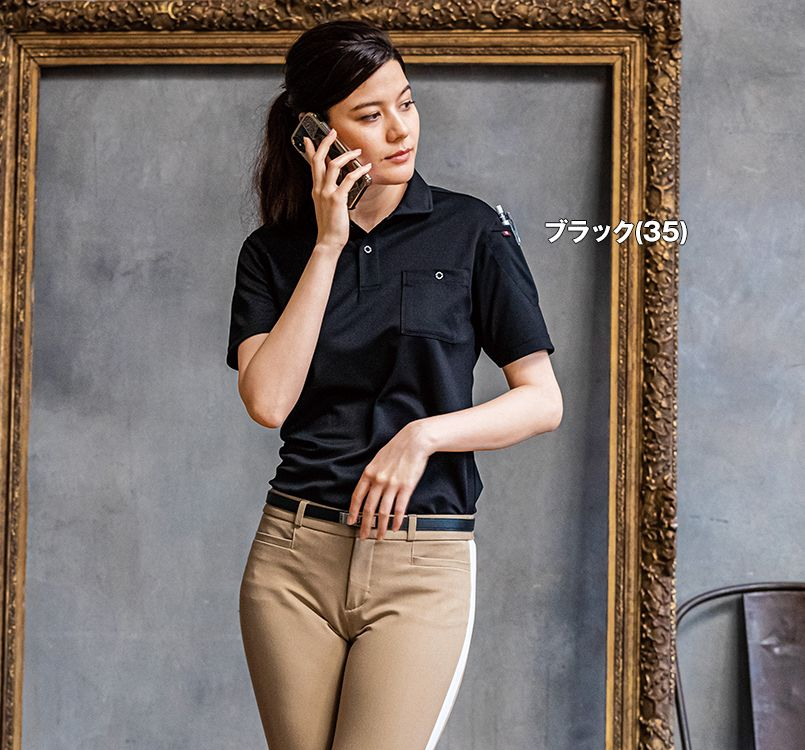 バートル バートル 667 [春夏用]ドライメッシュ半袖ポロシャツ(男女兼用) 11-667 半袖ポロシャツ モデル着用雰囲気1