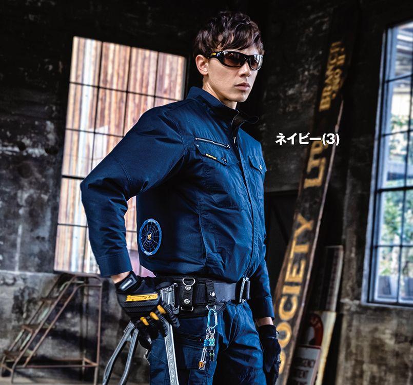 バートル バートル AC1131 エアークラフト[空調服]長袖ブルゾン(男女兼用) 綿100% 11-AC1131 エアークラフトブルゾン(男女兼用) モデル着用雰囲気1