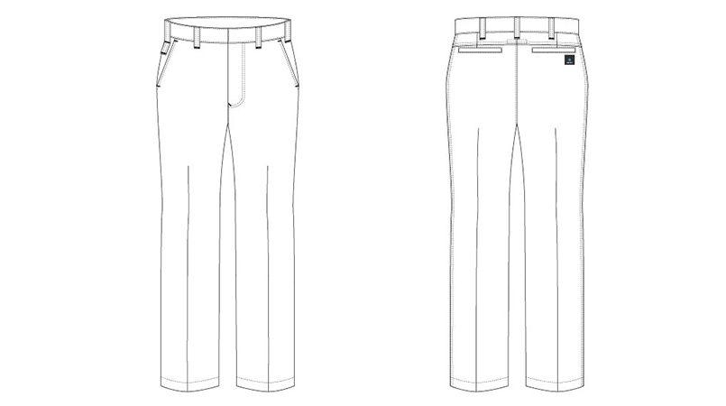 AZ30450 アイトス クールドライ ワークパンツ(ワンタック) 春夏 (吸汗速乾/男女兼用) ハンガーイラスト・線画