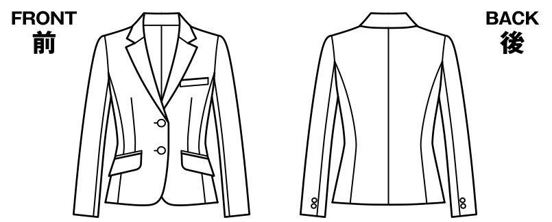 BONMAX AJ0245 [通年]リアン ジャケット(2つボタン)  ストライプ ハンガーイラスト・線画
