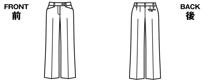 BONMAX AP6219 [通年]エターナル パンツ 無地 ハンガーイラスト・線画