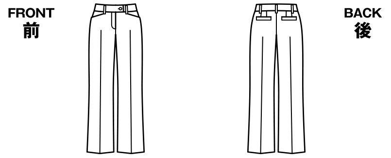 BONMAX AP6229 [通年]ジュビリー パンツ 無地 抗菌防臭加工 ハンガーイラスト・線画