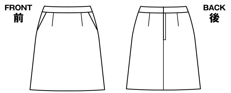 BONMAX AS2277 [通年]ジュビリー Aラインスカート チェック 抗菌防臭加工 ハンガーイラスト・線画