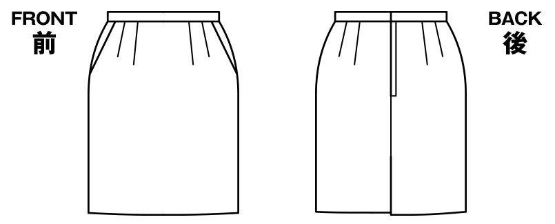 BONMAX LS2189 [通年]リブラ タイトスカート ドット ハンガーイラスト・線画