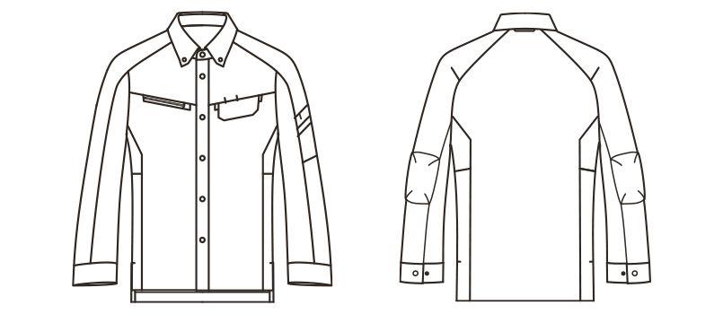 RS4902 ROCKY 長袖シャツ(男女兼用) バーバリー ハンガーイラスト・線画