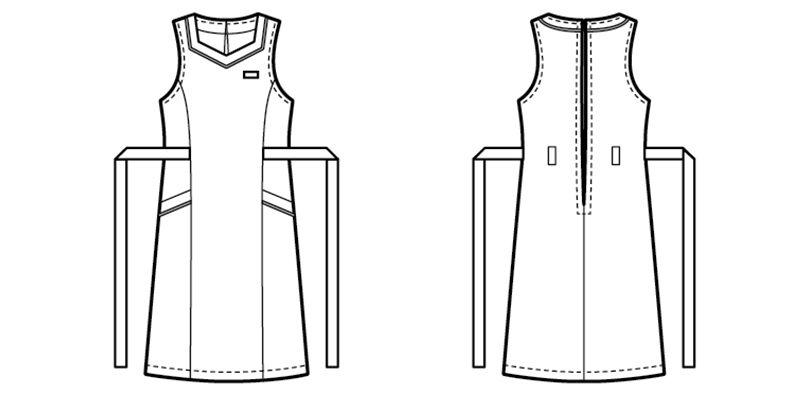 26203 BONUNI(ボストン商会) ジャンパースカート(女性用) ハンガーイラスト・線画